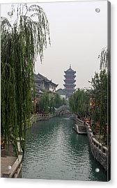 Ancient City Acrylic Print by Qing