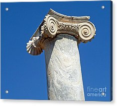 Acrylic Print featuring the photograph Ancient Delos Greece by Cheryl Del Toro