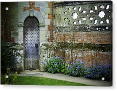 Ancient Door Acrylic Print by Lesley Rigg