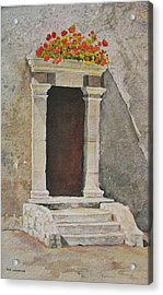Ancient  Doorway  Acrylic Print by Mary Ellen Mueller Legault