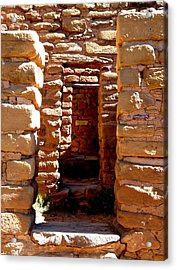Acrylic Print featuring the photograph Ancient Doorways by Alan Socolik