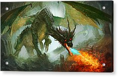 Ancient Dragon Acrylic Print by Ryan Barger