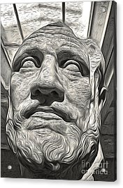 Ancient Greek Bust Acrylic Print by Gregory Dyer