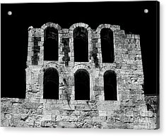 Ancient Greek Ruins Acrylic Print by John Rizzuto