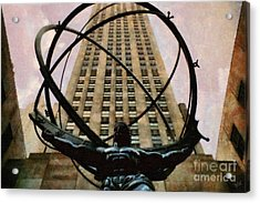 Ancient Greek Titan Atlas Holding The Heavens Acrylic Print by Nishanth Gopinathan