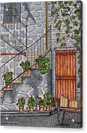 Ancient Grey Stone Residence Acrylic Print
