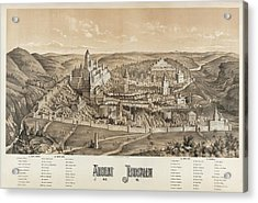 Ancient Jerusalem Acrylic Print by Library Of Congress/science Photo Library