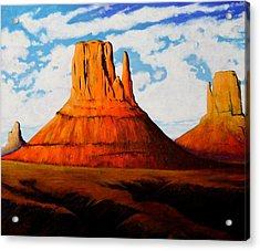 Ancient Land Monument Valley Acrylic Print by Joe  Triano