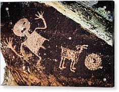 Ancient Native American Petroglyphs Acrylic Print