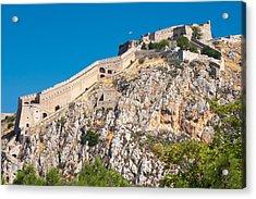 Ancient Palamidi Fortress Acrylic Print by Gurgen Bakhshetsyan