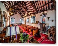 Ancient Parish Church Acrylic Print by Adrian Evans