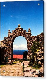 Acrylic Print featuring the photograph Ancient Portal by Suzanne Luft