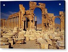Ancient Roman City Of Palmyra, Syria Photo Acrylic Print by .