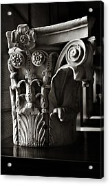 Ancient Roman Column In Black And White Acrylic Print