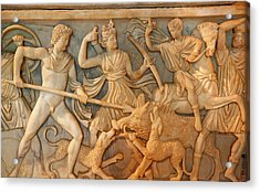 Ancient Roman Hunt Sculpture Burial Box Acrylic Print