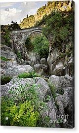 Ancient Romanic Bridge  Acrylic Print by Carlos Caetano