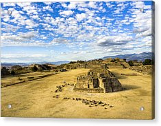 Ancient Ruins Of A Zapotec Temple Acrylic Print by Mark E Tisdale