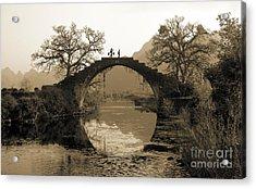 Ancient Stone Bridge Acrylic Print by King Wu