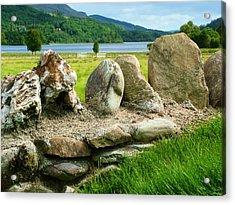 Ancient Stone Wall At Loch Achray Acrylic Print