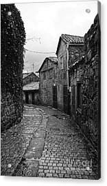 Ancient Street In Tui Bw Acrylic Print