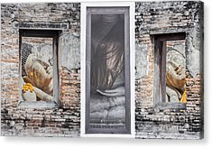 Ancient Temple In Ayuthaya Historical Park Acrylic Print by Anek Suwannaphoom