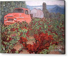Ancient Truck Acrylic Print by Donna Schaffer