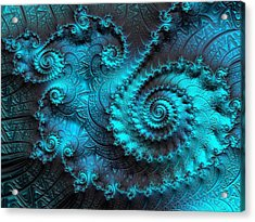 Ancient Verdigris -- Triptych 2 Of 3 Acrylic Print by Susan Maxwell Schmidt