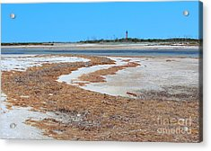 Acrylic Print featuring the photograph Anclote Key Island Lighthouse by Jeanne Forsythe