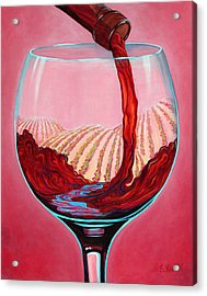 Acrylic Print featuring the painting ...and Let There Be Wine by Sandi Whetzel
