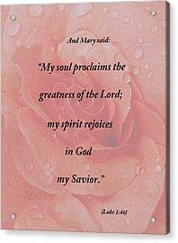 And Mary Said Acrylic Print