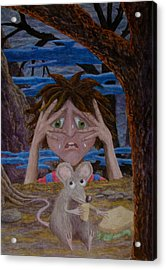 Acrylic Print featuring the painting and now I was frightened by Matt Konar