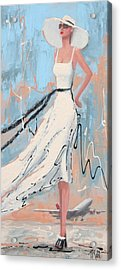 And She's Off Acrylic Print by Thalia Kahl