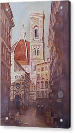 And Suddenly The Duomo Acrylic Print by Jenny Armitage