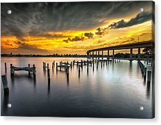 And The Water Caught Fire Acrylic Print