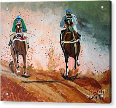 Acrylic Print featuring the painting And The Winner Is by Judy Kay