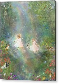 And They Danced And Danced Acrylic Print by Carrie Jackson
