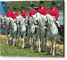 Andalusian Lineup Pastels Acrylic Print by Olde Time  Mercantile