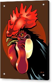 Andalusian Rooster 2 Acrylic Print by Patricia Howitt