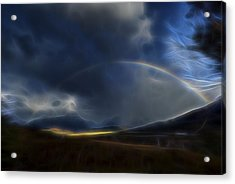 Acrylic Print featuring the digital art Andean Rainbow by William Horden