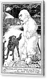 Andersen Snow Man Acrylic Print