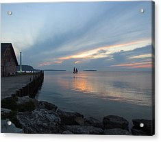 Anderson Dock Sunset Acrylic Print