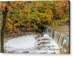 Anderson Falls On Fall Fork Of Clifty Acrylic Print by Chuck Haney
