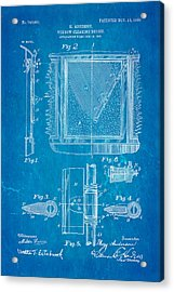 Anderson Windshield Wiper Patent Art 1903 Blueprint Acrylic Print