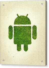 Andoird Grass Logo Acrylic Print
