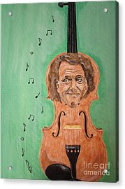 Acrylic Print featuring the painting Andre Rieu And His Violin by Jeepee Aero