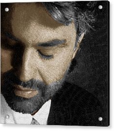 Andrea Bocelli And Square Acrylic Print