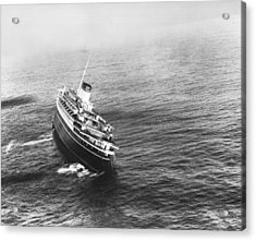 Andrea Doria Before Sinking Acrylic Print by Underwood Archives