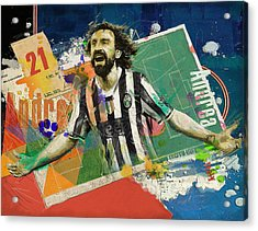Andrea Pirlo Acrylic Print by Corporate Art Task Force