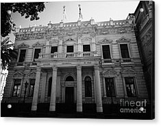 andres bello academia diplomatica de chile in edwards palace Santiago Chile Acrylic Print by Joe Fox