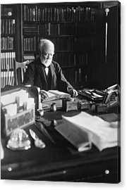 Andrew Carnegie Reading Acrylic Print by Marceau